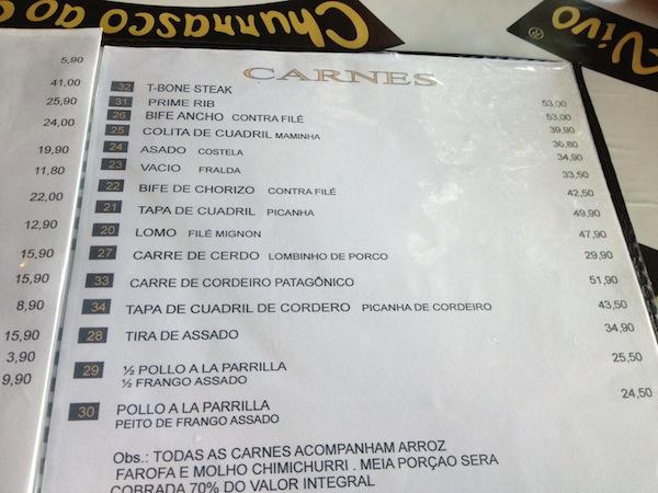 Cardápio: os clássicos da gastronomia carnívora castelhana