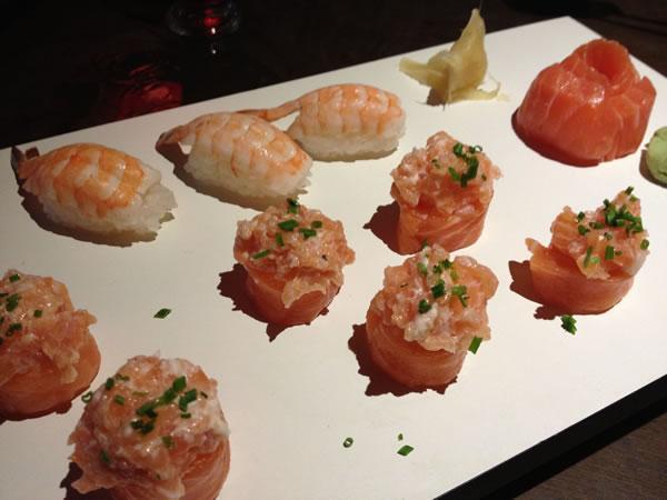 Dyo  e nigiri de camarão