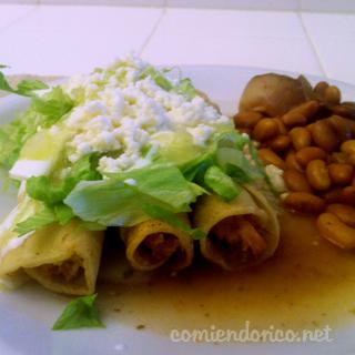 Flautas de Pollo – Tacos Dorados