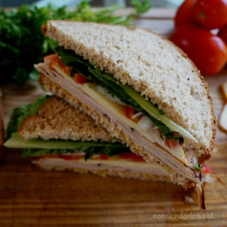 sandwich de pavo estilo cajun, comiendorico.net