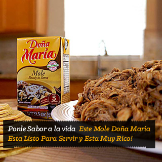 Pollo con mole, comiendo rico, mole Doña Maria