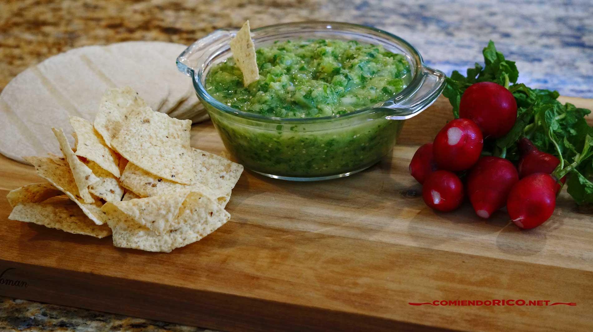 Salsa verde, comiendo rico, recetas de cocina