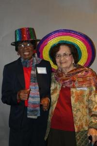 Alice Houston Johnson and friend
