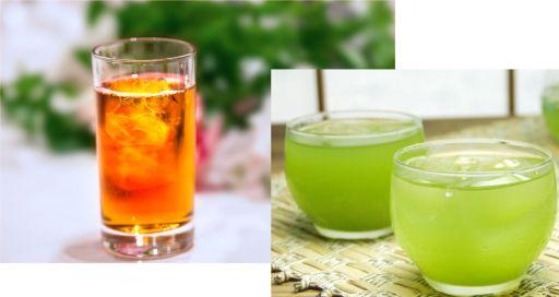 緑茶かウーロン茶