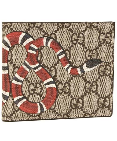 ヘビ柄の財布