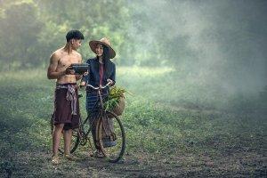 カンボジアの男女