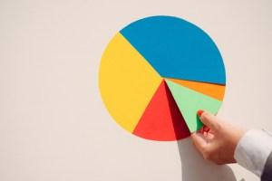 紙の円グラフ