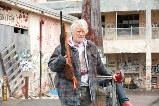 RUTGER HAUER as Hobo in Hobo with a Shotgun released 15th July