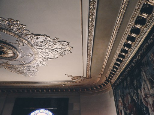 23 karat gold detail wove all around the house, even on the ceilings