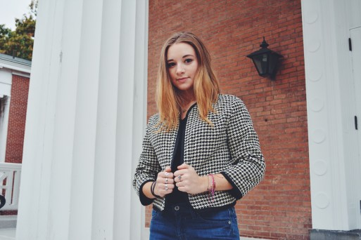 but also loving this vintage checked jacket
