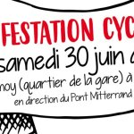 Pour le maintien d'une piste cyclable au niveau du Pont F. Mitterrand