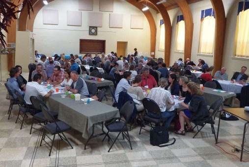 Les participants lors de l'atelier de discussion en après-midi