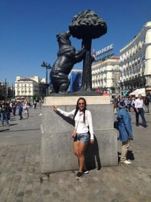 Puerta del Sol e a ursA de Madrid