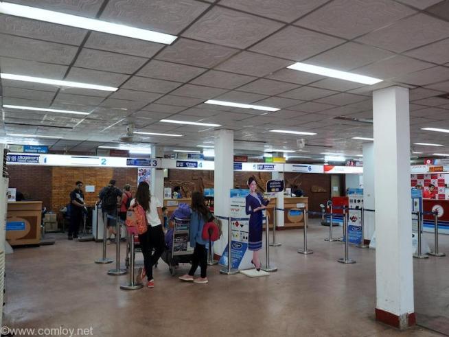 ワットタイ国際空港(Wattay International Airport)国内線ターミナル チェックインカウンター