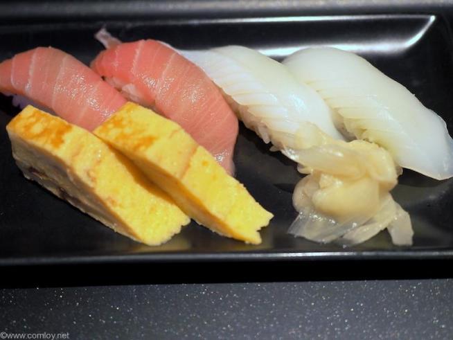 JALだファーストクラスラウンジで提供されるお寿司