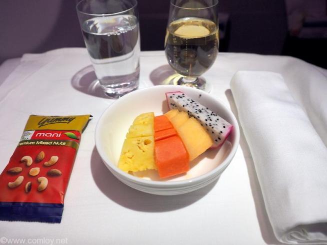 マレーシア航空 MH88 クアラルンプール - 成田 ビジネスクラス機内食