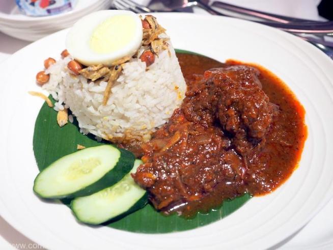 MAIN COURCE MALAYSIAN FAVOURITES NASI LEMAK Coconut rice, ikan bilis and prawn sambal and traditional accompaniments