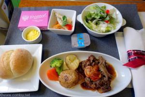日本航空 JAL517 羽田 - 札幌 ファーストクラス機内食