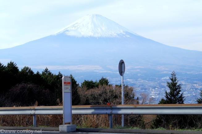 ふじみ茶屋から見る富士山