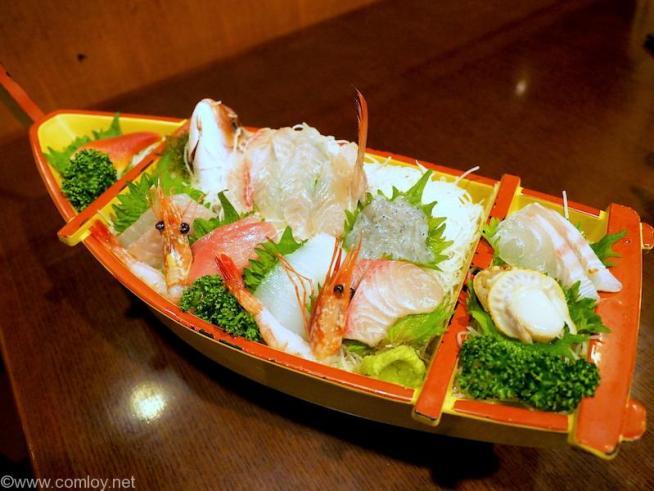 仙石高原箱根一の湯 別注文で舟盛り
