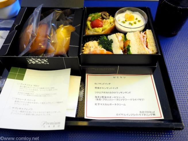 NH996 沖縄 - 羽田 プレミアムクラス機内食