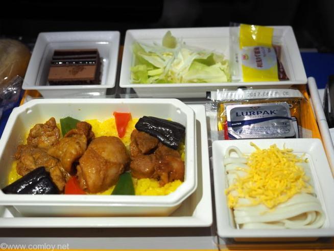 NH807 成田 - バンコク プレミアムエコノミークラス機内食