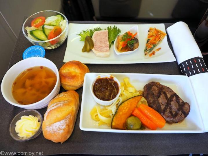 日本航空 JL97 羽田 - 台北(松山)ビジネスクラス機内食