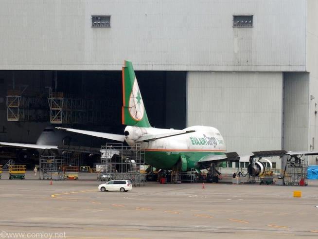 EVA AIR ボーイング747貨物機