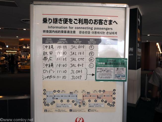羽田空港案内板