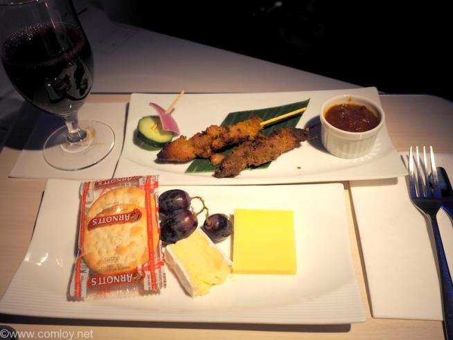 日本航空JL36 シンガポール - 羽田 ビジネスクラス 機内食