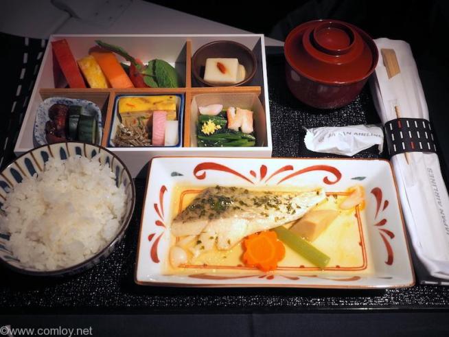 日本航空 JL36 シンガポール - 羽田 ビジネスクラス 機内食