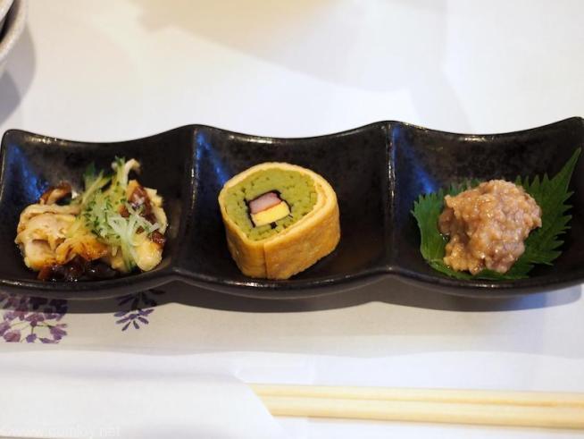 箱根温泉旅館「仙石高原箱根一の湯」 小鉢3種盛り