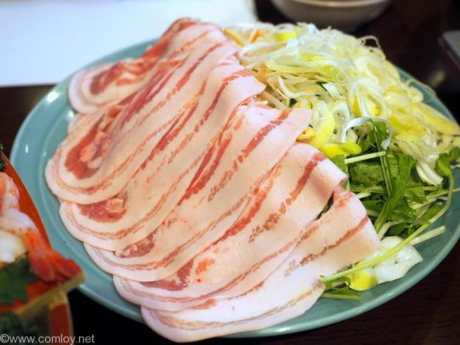 箱根温泉旅館「仙石高原箱根一の湯」 名物 箱根山麓豚のしゃぶしゃぶ