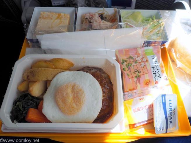 全日空 ANA853 羽田 - 台北(松山)エコノミークラス 機内食