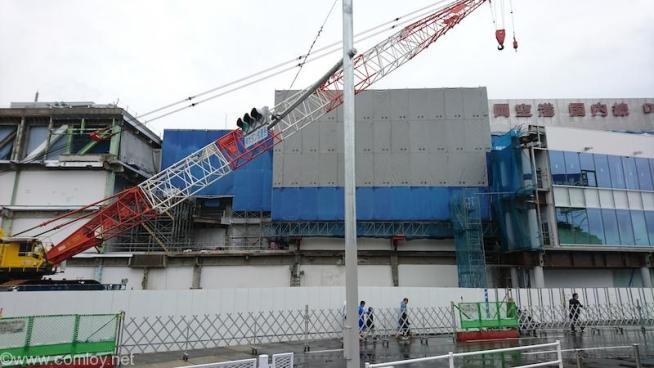 閉鎖されている福岡空港 旧第2ターミナル
