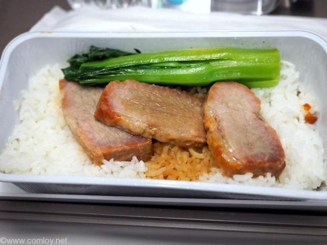 キャセイパシフィック CX470 香港ー台北 エコノミークラス機内食