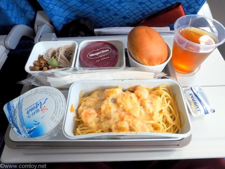 キャセイパシフィック CX450 台北 - 成田 エコノミークラス機内食