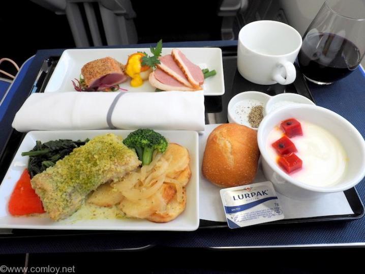 全日空 NH853 羽田 - 台北(松山)ビジネスクラス機内食