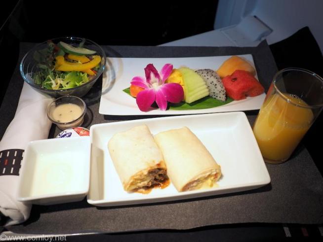 日本航空 JL34 バンコク - 羽田 ビジネスクラス機内食 朝食