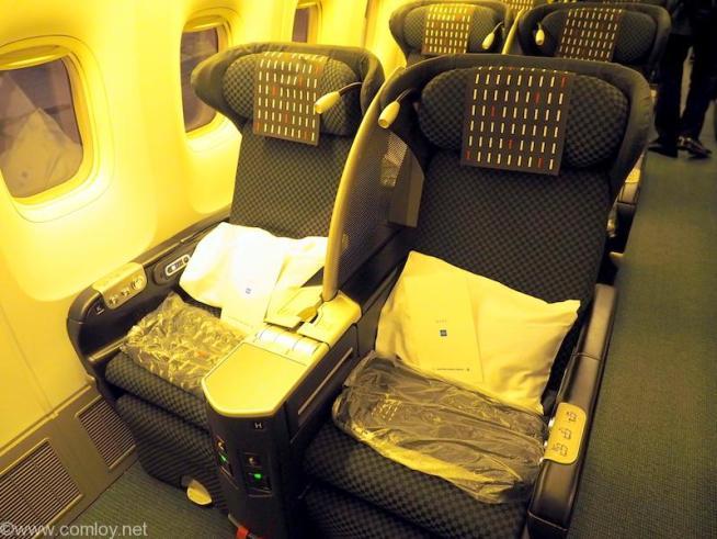 日本航空 JL99 羽田 - 台北(松山)ビジネスクラス座席