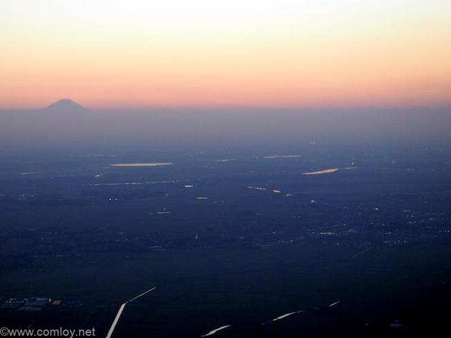 日本航空 JL804 台北(桃園)- 成田 富士山