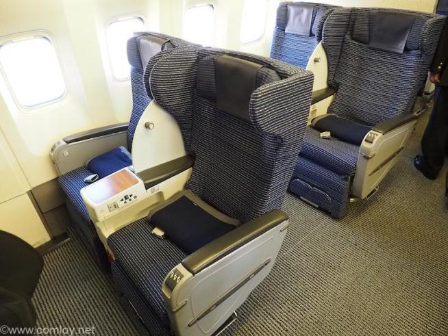 全日空 ANA428 福岡 - 伊丹 プレミアムクラス座席