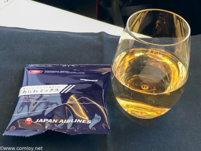 日本航空 JL31 羽田 - バンコク ビジネスクラス 機内食 シャンパン