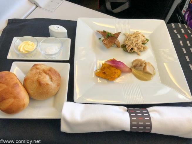 日本航空 JL31 羽田 - バンコク ビジネスクラス 機内食  オードブル