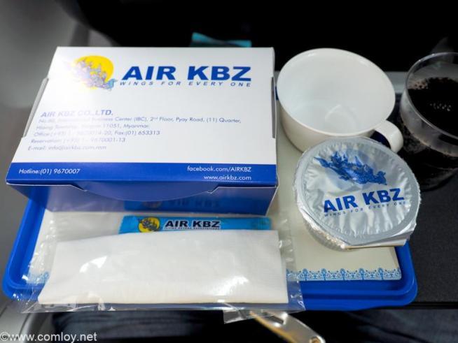 AIR KBZ K7831 ヤンゴン - バンコク 機内食