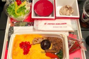 日本航空JL99 羽田 - 台北 エコノミークラス機内食