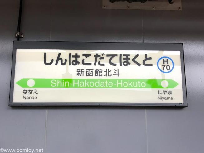 新函館北斗駅に到着