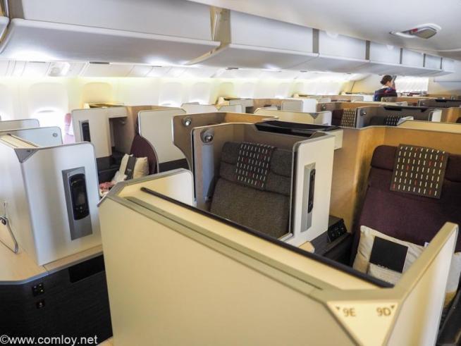 日本航空JL005 ニューヨーク - 羽田 ビジネスクラス SKY SUITE (SS7)