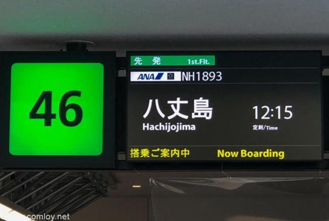 全日空 ANA1893 羽田 - 八丈島ボーディング