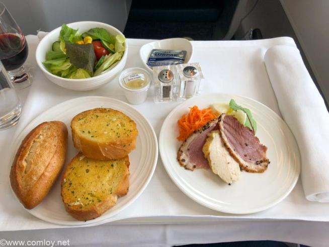 マレーシア航空 MH89 成田 - クアラルンプール ビジネスクラス機内食